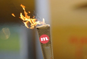 The CircleMe Olympic torch