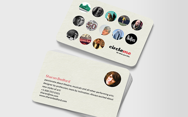 CircleMe Personal Cards both sides
