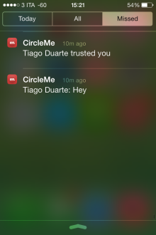 CircleMe Push Notifications