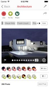 iOS Item screen