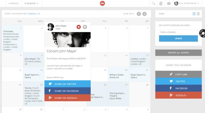 CircleMe Calendar