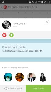 CircleMe Calendar Event View