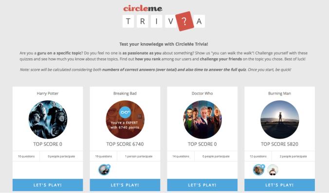 CircleMe Trivia
